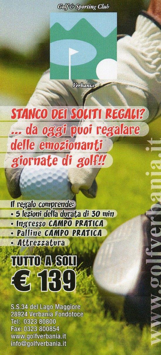 Impara a Giocare a Golf! 5 Lezioni di 30 Minuti Palline Campo Pratica Ingresso Campo Pratica Attrezzatura a soli 139 €