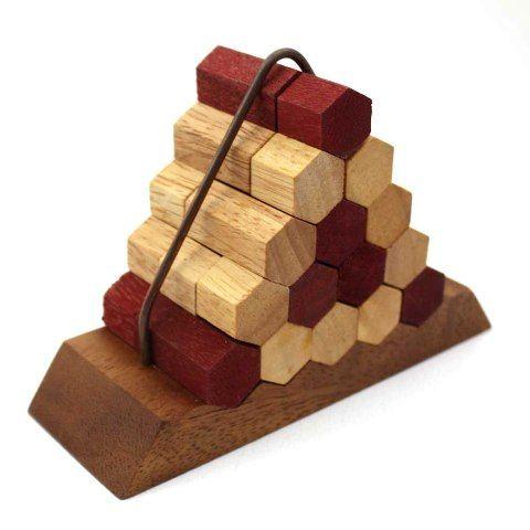 Bienenstock-Pyramide Holz Puzzle Knobel IQ-Spiel