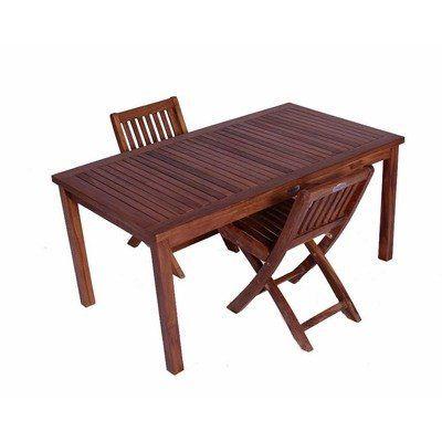 Classic Kidsu0027 3 Piece Teak Table And Folding Chair Set By JazTy. $399.95.
