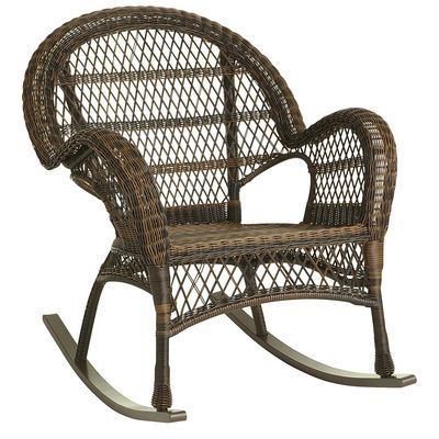Rocker - Mocha - PIer 1- Rocking alternative to red wicker chairs ...