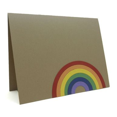 """Our rainbow """"Just The Way You Are"""" card is perfect for gay pride or coming out!"""