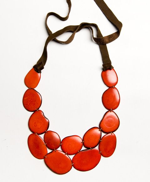 This stunning  (and eco-friendly!) bib necklace is the perfect complement to a formal dress, but needs nothing more than a white tee shirt to shine! Noonday collection