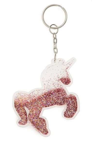 Topshop Glitter Unicorn Bag Charm available at #Nordstrom