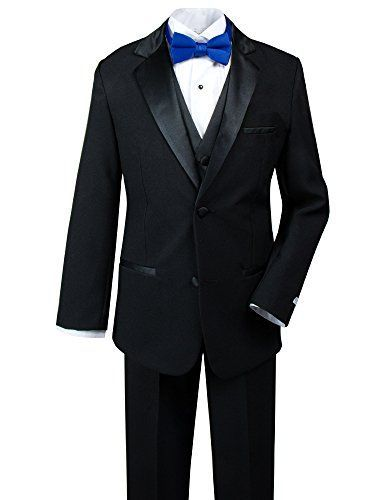 Spring Notion Big Boys' Modern Fit Tuxedo Set, No Tail Ex