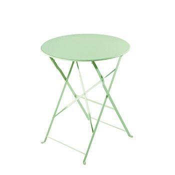 Table de jardin pliante en métal vert d\'eau D58 - Confetti ...