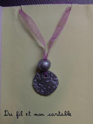 Du fil et mon cartable : Collier Fêtes des Mères