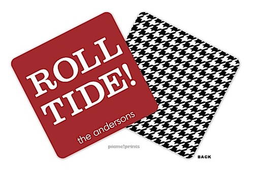 Roll Tide!!! picme!prints | | Roll Tide! - Alabama Personalized Coaster (PicMe) | The PrintsWell Store
