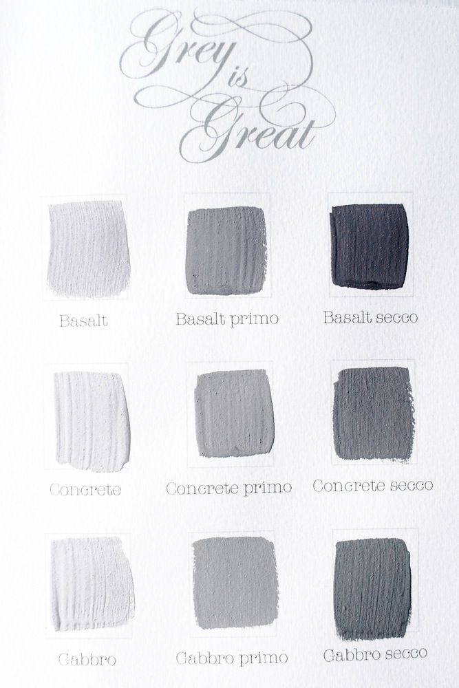 Kalklitir - Color Sample Cards - Grey is Great ... | Komedal Road . . .