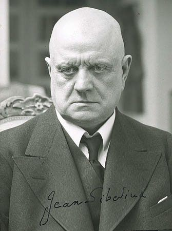 "Jean Sibelius (1865-1957) the great Finnish composer of ""Finlandia."""