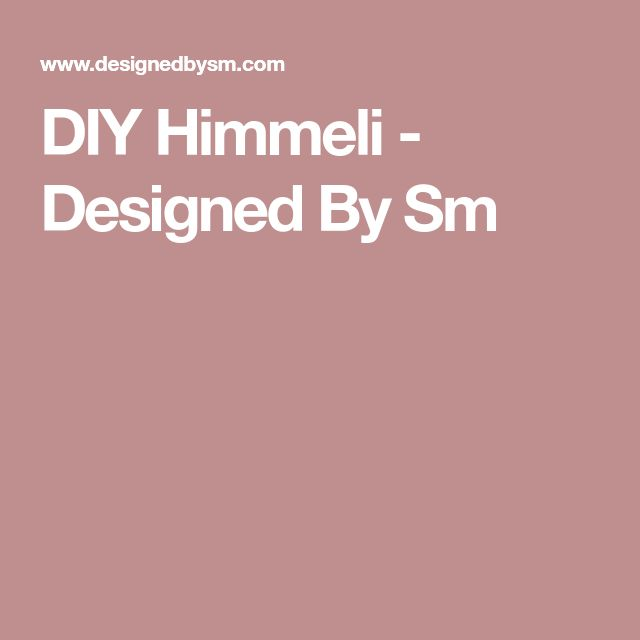 DIY Himmeli - Designed By Sm
