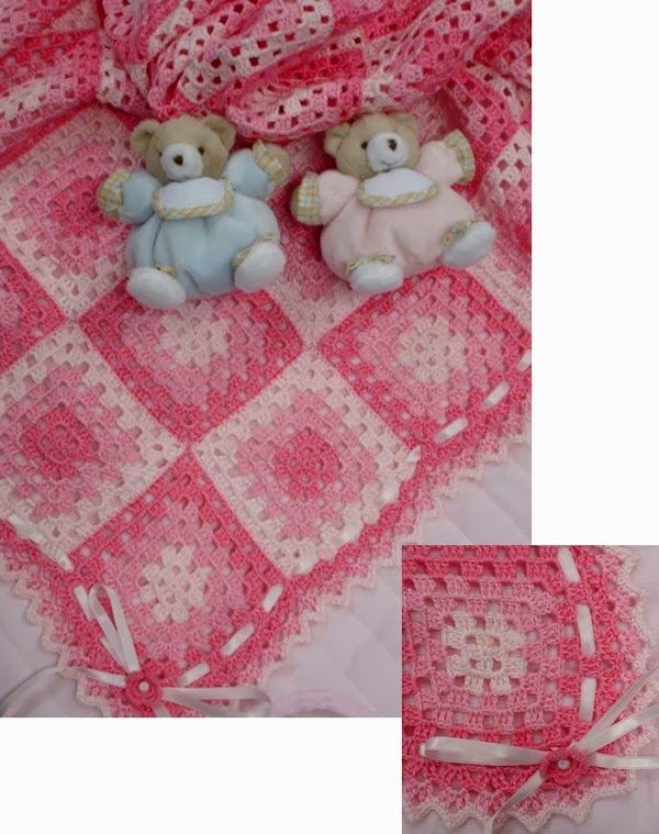Crochet granny baby blanket ♥LCB-MRS♥ with diagram, scroll down to see it. Excellent for beginners