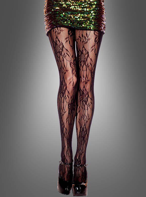 Strumpfhose mit Muster schwarz bei ⇒ Kostümpalast