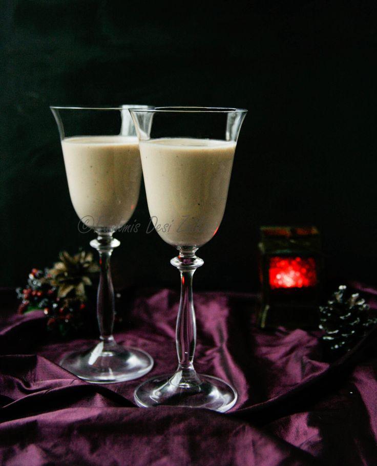 Fancy a warm, chocolatey, spiced cocktail with a dash of coffee liqeur? Here is my recipe of Spiced Chocolate Kahlúa Eggnog.  Perfect for Holidays celebrations!!! #eggnog #Christmas #Holidays #snow #spices #Chocolate #Cocktails #kahlua #homemade #rashmisdesizaika
