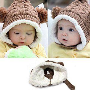 Malloom® Belles Enfant Bébé Dual Balls fille Garçons laine à tricoter Keep Warm Beanie Chapeau (Café): Tweet Contenu de l'emballage: 1 PC…