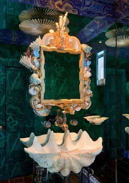 Giant Clam Shell Sink Design Ideas, Pictures, Remodel and Decor