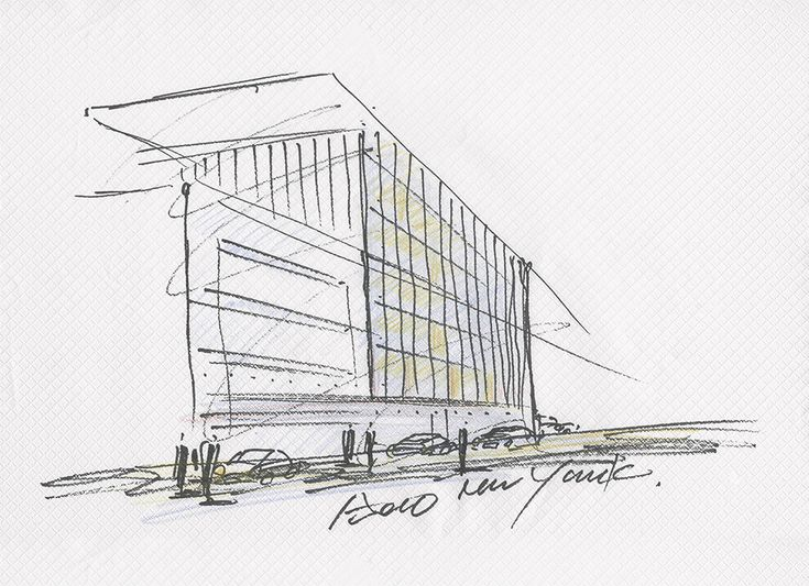 modern architecture sketch. Gallery Of Tadao Ando Designs Luxury Residential Building In New York - 3. SketchArchitecture SketchesArchitecture IllustrationsModern Modern Architecture Sketch
