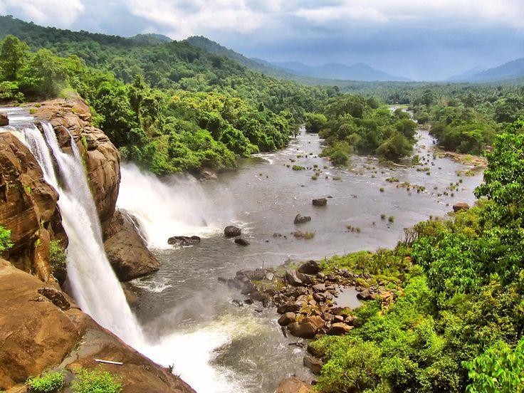 nice athirapally waterfalls nature wallpaper