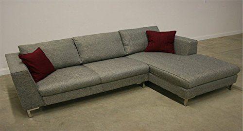 Amazon.com - EXCLUSIVE MODERN FURNITURE EDITION #64: Bennetti Modern Sectional Sofa Ferrara Dark Gray -