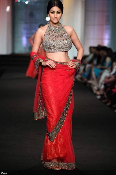 A model walks the ramp for designers Ashima-Leena on Day 3 ...