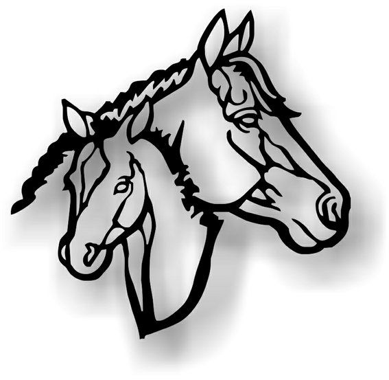 western horse art