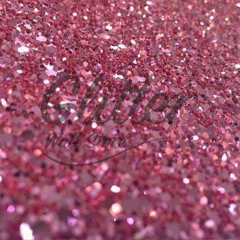 Glitter Sparkle Wallpaper – Dusky Pink   Glitter Wall Store