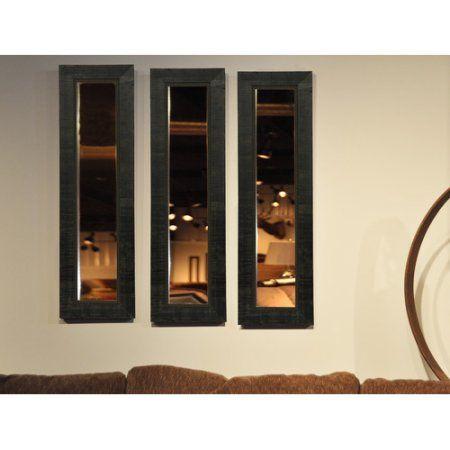 Rayne Tuscan Ebony Mirror Panel, Black