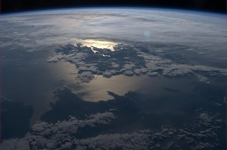 Wales from the International Space Station. Ireland and Isle of Man too.