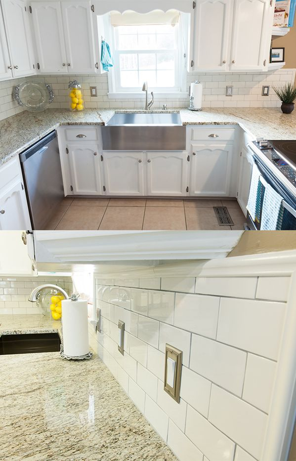 A Storka Avenue subway tile backsplash can give your kitchen a 'splash' of  style without the headaches (or cost) ... - 73 Best Images About Subway Tile On Pinterest Backsplash Tile