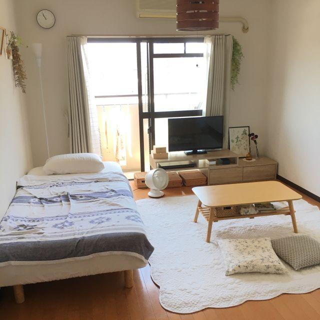 部屋全体 ラグ 一人暮らし 1k 1dk などのインテリア実例 2018 06