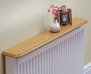A Shelf On Top Of The Radiator Makes It Functional, Useable Space