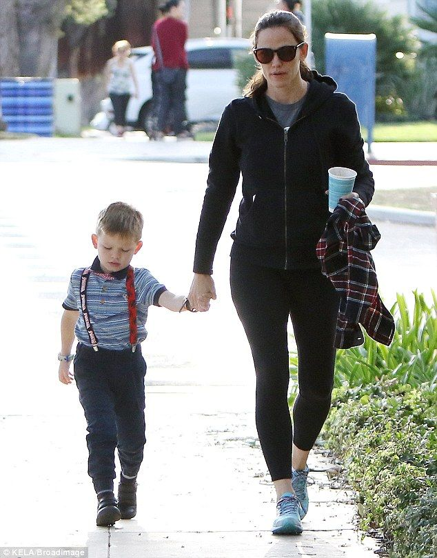 Just the two of us:Jennifer Garner and Samuel headed out together on Thursday as they ran errands around Santa Monica, California