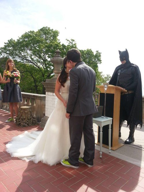 By the power vested in me by the city of Gotham.... I know I'm batman but can batman do my wedding too? Mission: Find a girl that'd allow this...