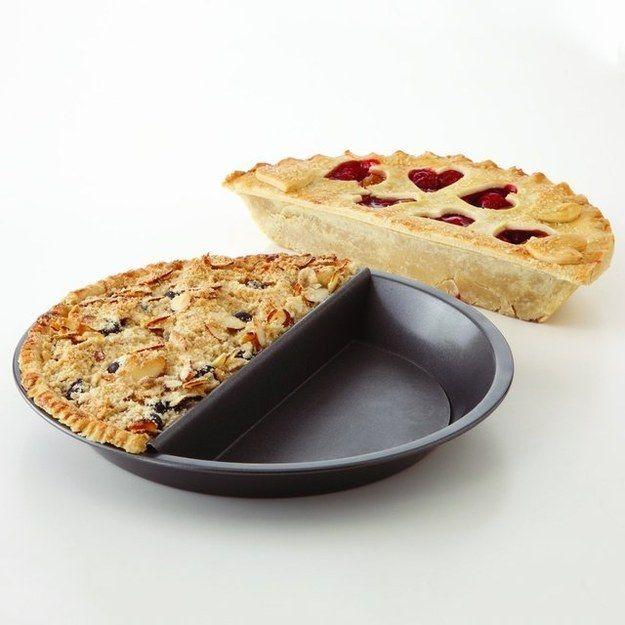 A split-decision pie pan.
