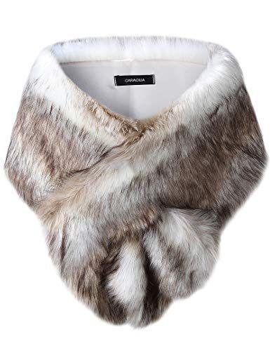 bf1f45a9f5 Caracilia Shawl Wrap Faux Fur Shrug Stole Scarf Winter Bridal Wedding Cover  Up / #fashion #clothing #shoes #accessories #weddingformaloccasion ...