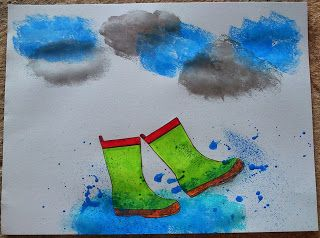"Maro's kindergarten: Crafts inspired by the book ""The rainy day""  Κατασκευές…"