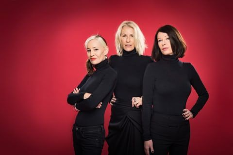 Musicians Siobhan Fahey, Sara Dallin and Keren Woodward of Bananarama by Linda Nylind