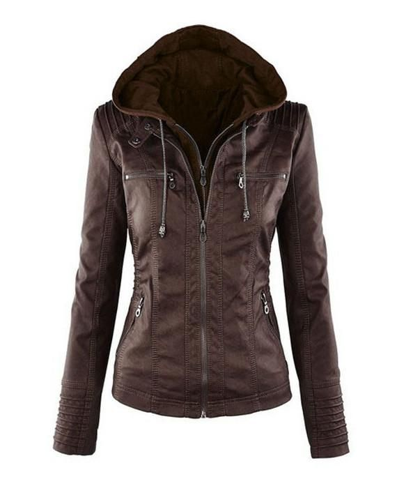 Zipper Basic Suede Coat Motorcycle Leather Jacket