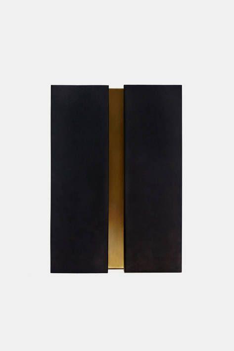 Atelier De Troupe, Blackened Brass Breche Bar Sconce - Large