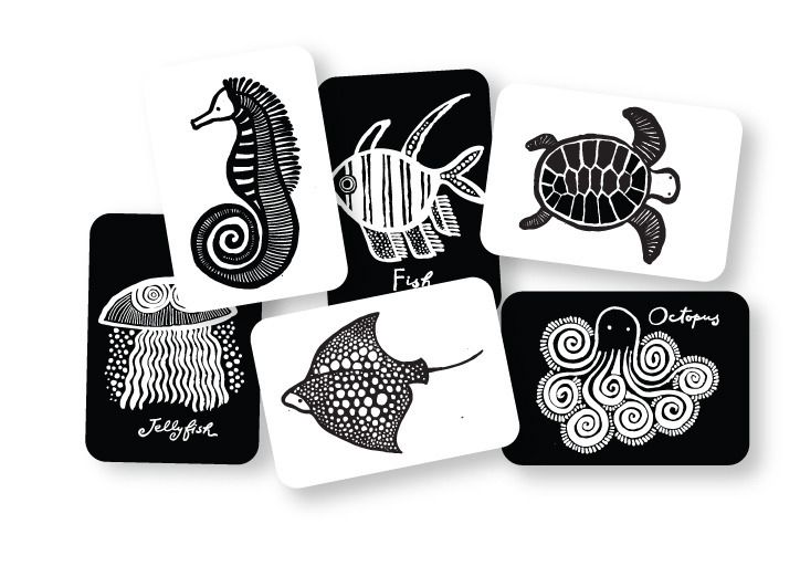 Sea Art Cards for Baby - Wee Gallery - $12.95 - domino.com