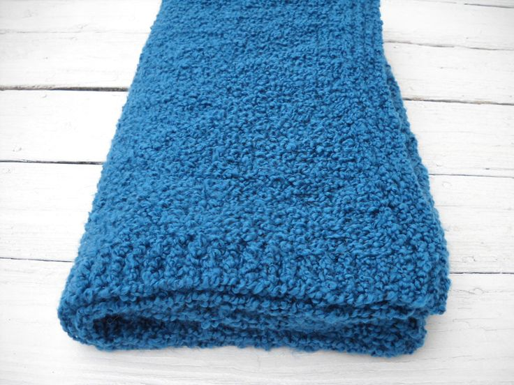 Teal Large  Throw   Home Decor Teal Afghan - Boucle Knitted Blanket - Beautiful Couch Throw - Handmade Blanket - Teal Color Large Afghan by BabyBlanketsAndETC on Etsy https://www.etsy.com/listing/215734178/teal-large-throw-home-decor-teal-afghan