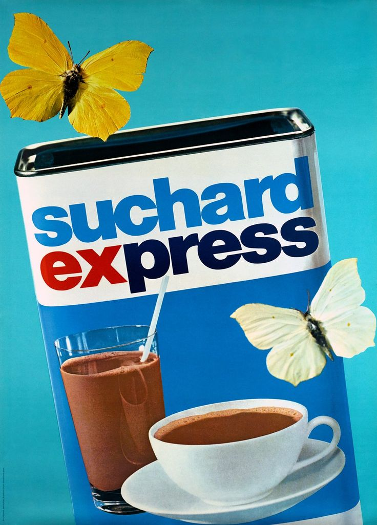 Suchard express – Posters. BN+R BUCHMANN (photo). 1955 circa