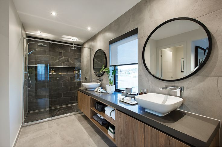 Master bedroom ensuite in the Hoffman display with an Amsterdam World of Style.