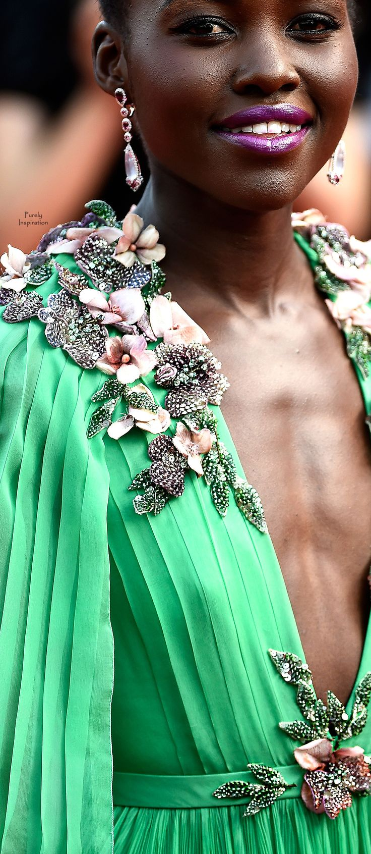 Lupita Nyong'o - Gucci 2015 Cannes Film Festival | Purely Inspiration