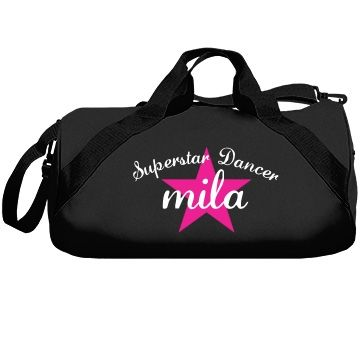Mila. Superstar dancer | Great dance bag for all. Excellent quality, great colors to choose from and you can even customize it yourself to be your very own.