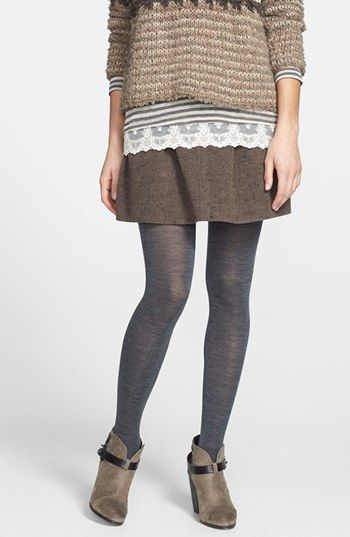 Smart Wool tights. Med. Gray. Nordstrom.