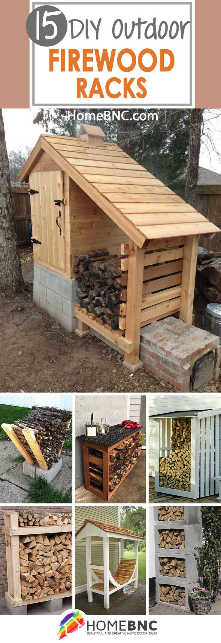 DIY Outdoor Firewood Rack Projects
