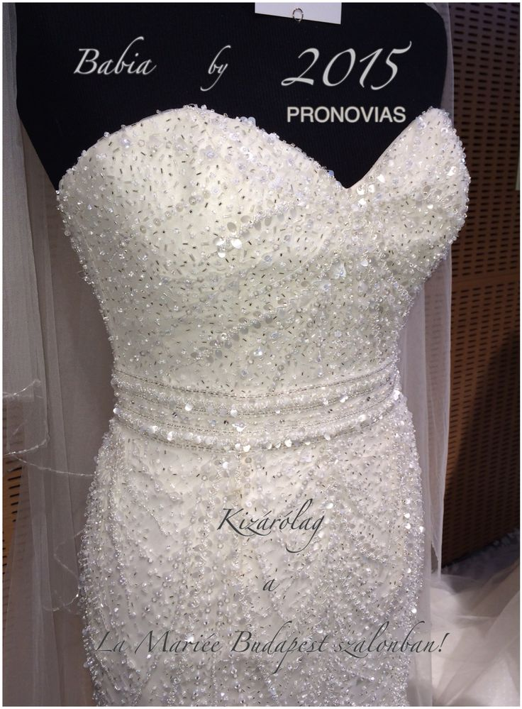 Esküvői ruha Babia http://lamariee.hu/eskuvoi-ruha/pronovias-2015/babia