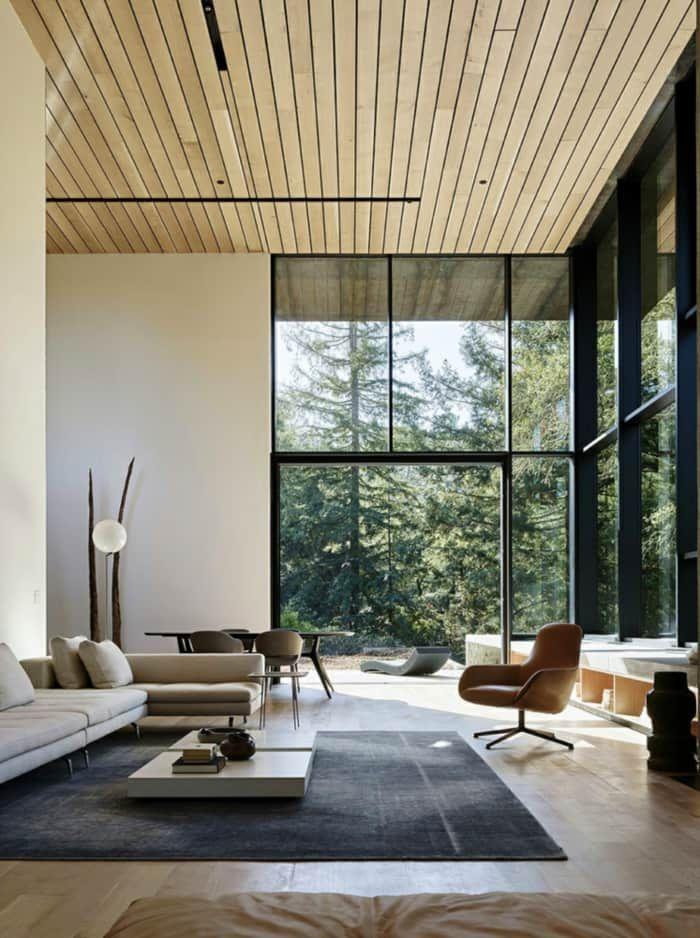 Indoor outdoor living room, great example of biophilic ...