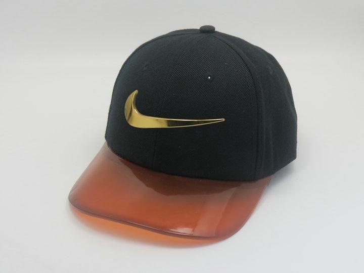 c1ed46d1 Men's Nike Jumbo Gold Metal Heritage Swoosh Logo Transparent Plastic Visor…    Nike Store   Hats, Snapback hats, Baseball hats
