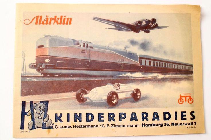 Märklin Katalog 1936 Antik Maerklin Militaria Eisenbahn DachbodenfundKK. 36. D.